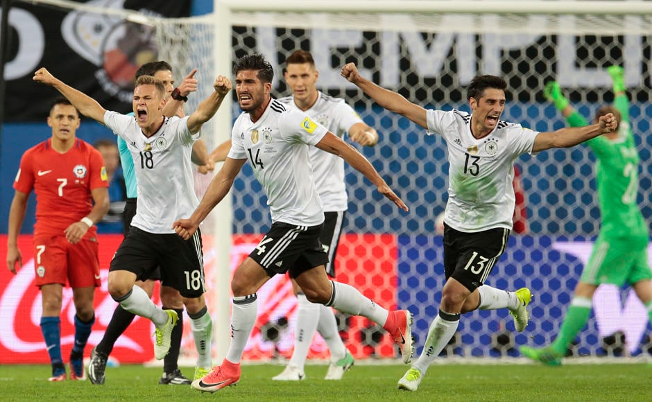 However, with the German defence holding firm, the final whistle signalled a hard-earned victory for Germany in the Confederations Cup final against Chile. AP