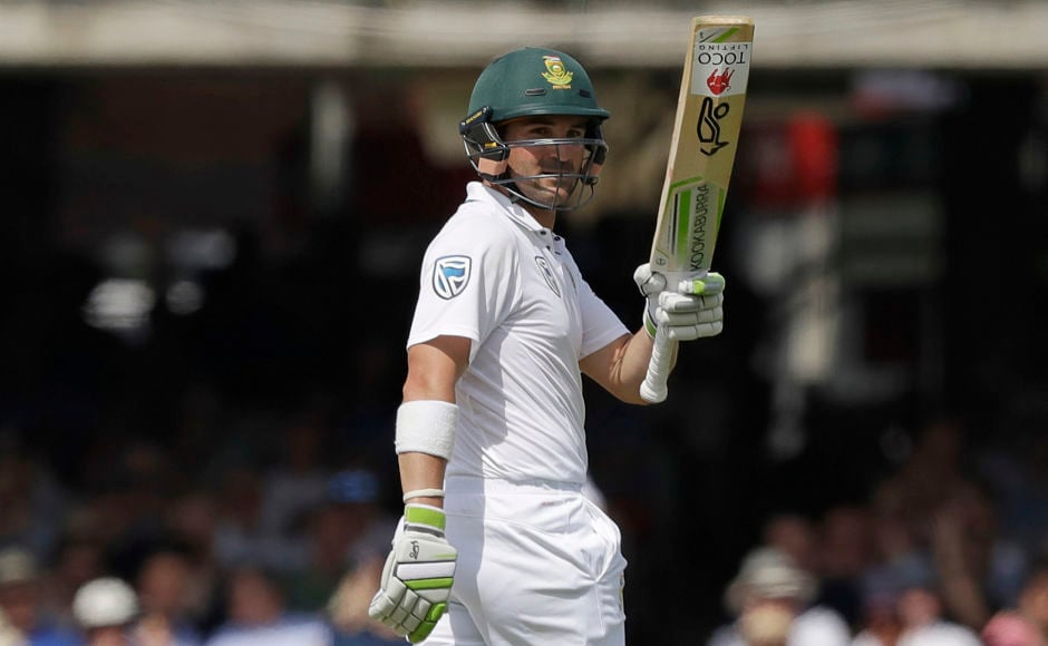 South Africa's stand-in captain Dean Elgar tried to bring some stability with a 72-run partnership with Hashim Amla. AP