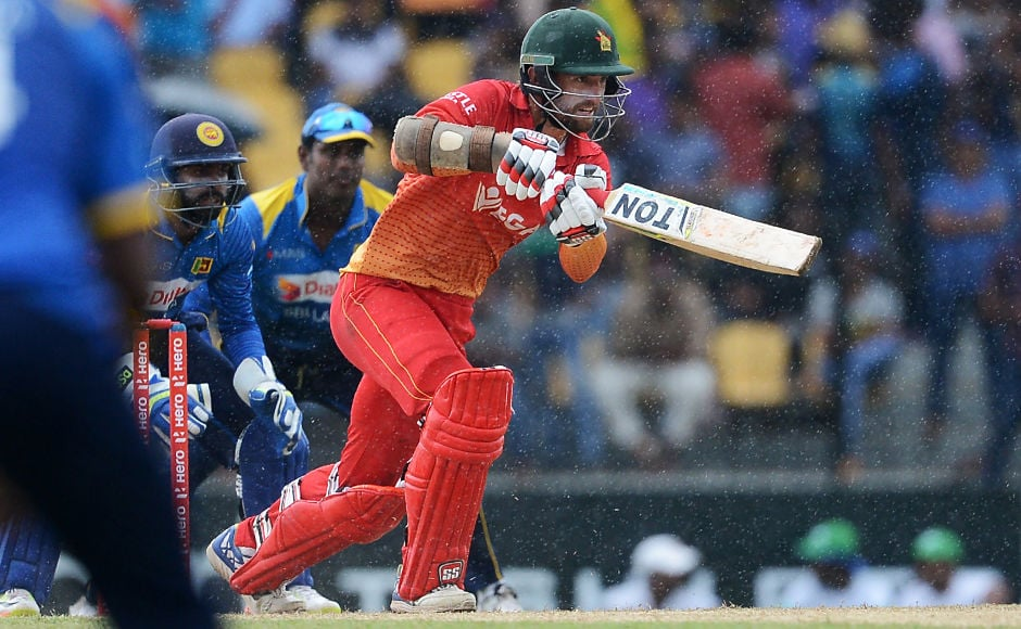 It took the calmness of Craig Ervine for Zimbabwe to go further ahead in the rain-affected chase. AFP