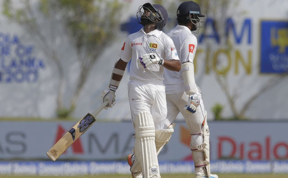 Opener Dimuth Karunaratne and wicketkeeper Niroshan Dickwella steadied Sri Lanka after they lost two quick wickets. AP