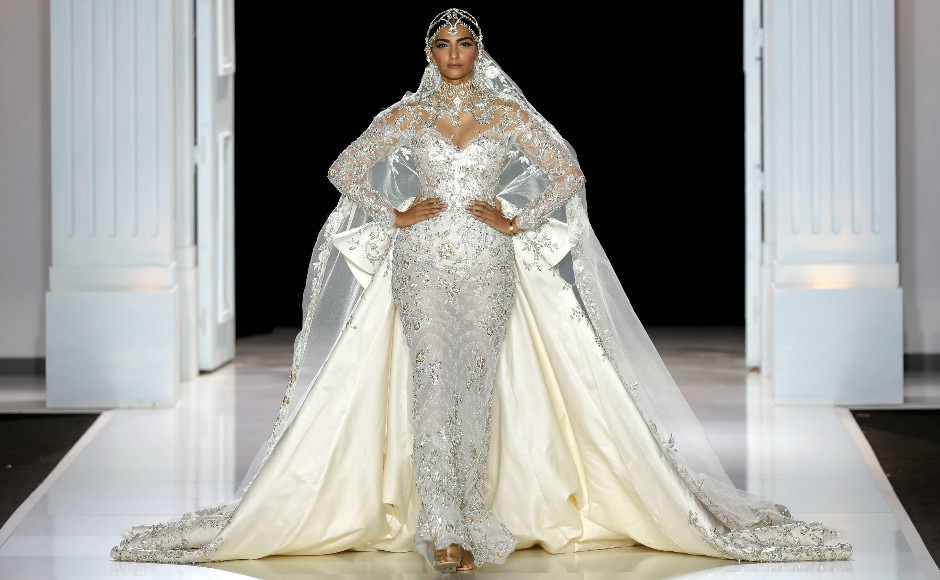 Sonam was the showstopper for Ralph & Russo — a label she has sported on the red carpet at events like the Cannes Film Fest. The show was part of the ongoing Paris Haute Couture 2017. Image: Reuters