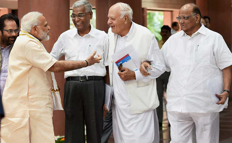 Among opposition leaders who attended the meeting were Ghulam Nabi Azad (Congress), Sharad Pawar (NCP), Sitaram Yechury (CPM), Mulayam Singh Yadav (SP), Farooq Abdullah (NC) and D Raja (CPI). PTI