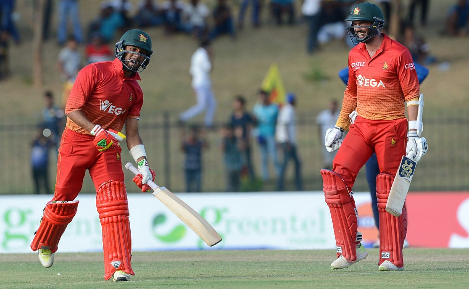 Sikandar Raza hit the winning shot, as he dispatched Dananjaya for a six, clinching the match and the series for the visitors. AFP