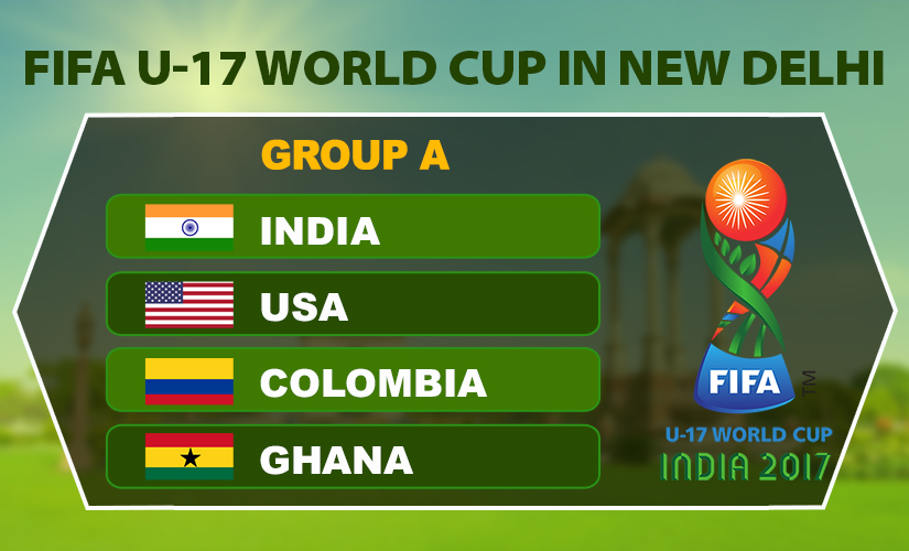 Teams in Group A play their matches at New Delhi.