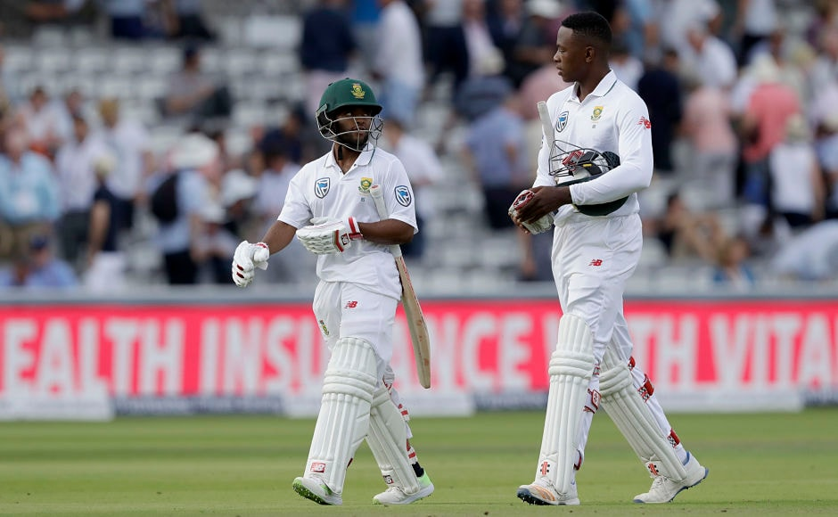 Temba Bavuma and Kagiso Rabada survived the day with South Africa scoring 214 for 5 by the end of the play. AP