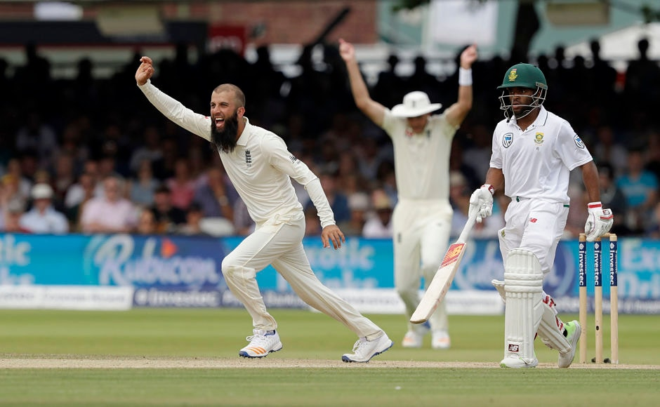 As the innings progressed, England's spinners choked South Africa further, with Moeen Ali taking out the visitors' last hope Quinton de Kock. AP