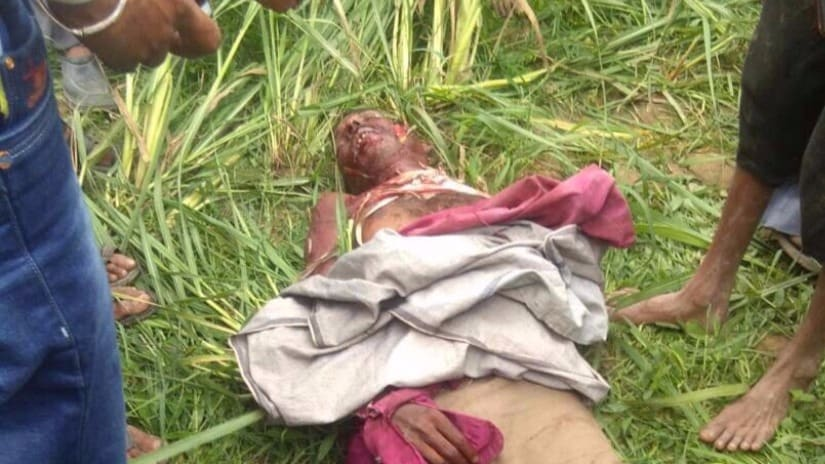 A villager who was killed by a tiger