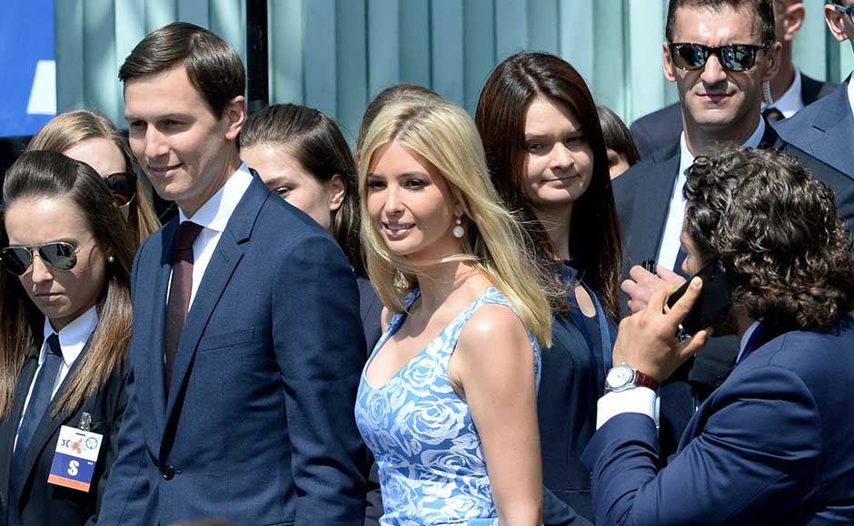 Ivanka Trump also made it a point to visit the Warsaw ghetto memorial, a day after Polish Jews condemned her father, Trump, for leaving the monument off his to-do list while in the Polish capital. AP
