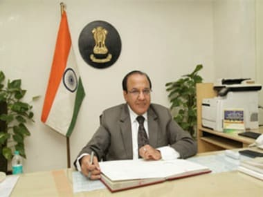 File image of newly appointed CEC AK Joti. ECI website