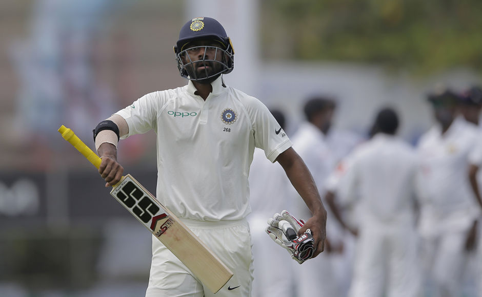 India's Abhinav Mukund, though, could make the most of his opportunity and was dismissed for 12. AP