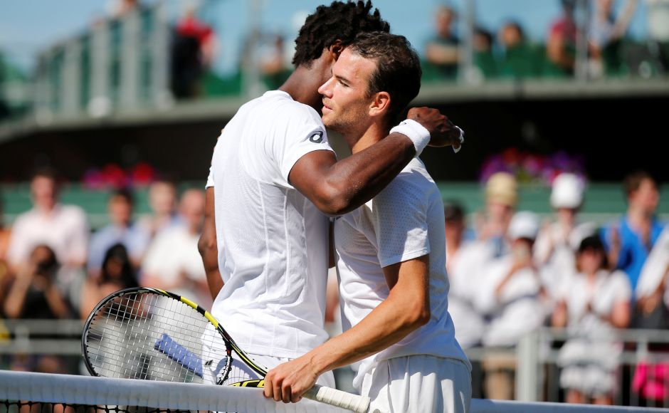 15th seed Gael Monfils of France suffered a 3rd round upset at the hands of compatriot Adrian Mannarino. Reuters