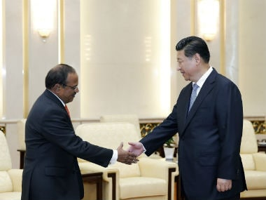 Ajit Doval meeting China's president Xi Jinping. Reuters