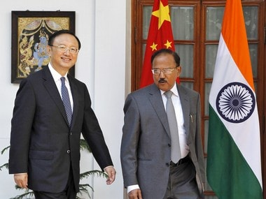 File image of Ajit Doval and Yang Jeichi. Reuters