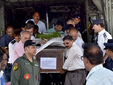 Bodies of the Amarnath pilgrims who were killed in militant attack being brought back. PTI