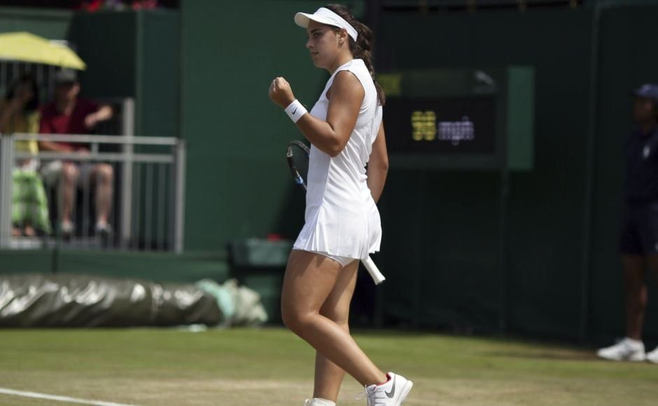 Croatian teenager Ana Konjuh upset eighth-seeded Dominika Cibulkova to reach the fourth round at Wimbledon for the first time. AP