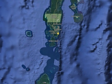 A map of Andaman Islands. Image courtesy: Google Maps