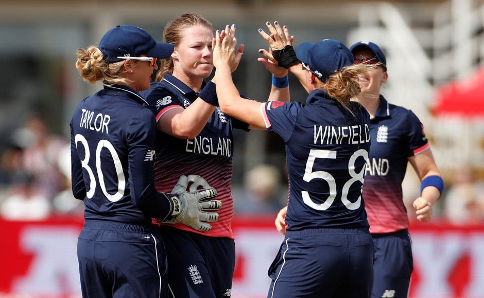 Anya Shrubsole was the pick of the bowlers. She scalped one wicket and her economy was just 3.30. Reuters