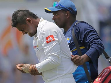 India vs Sri lanka: Asela Gunaratne ruled out of first Test with fractured left thumb