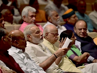 Prime Minister Narendra Modi attends the BJP Parliamentary meeting with other BJP leaders. PTI
