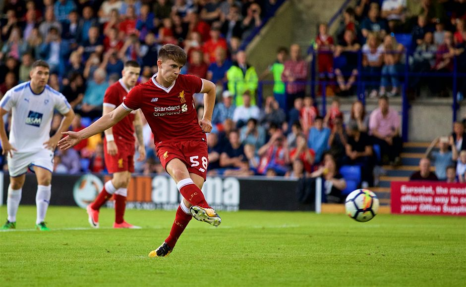 The second penalty for Liverpool taken by Ben Woodburn wrapped up the scoring to give the Reds an impressive start to their season. Twitter/@LFC