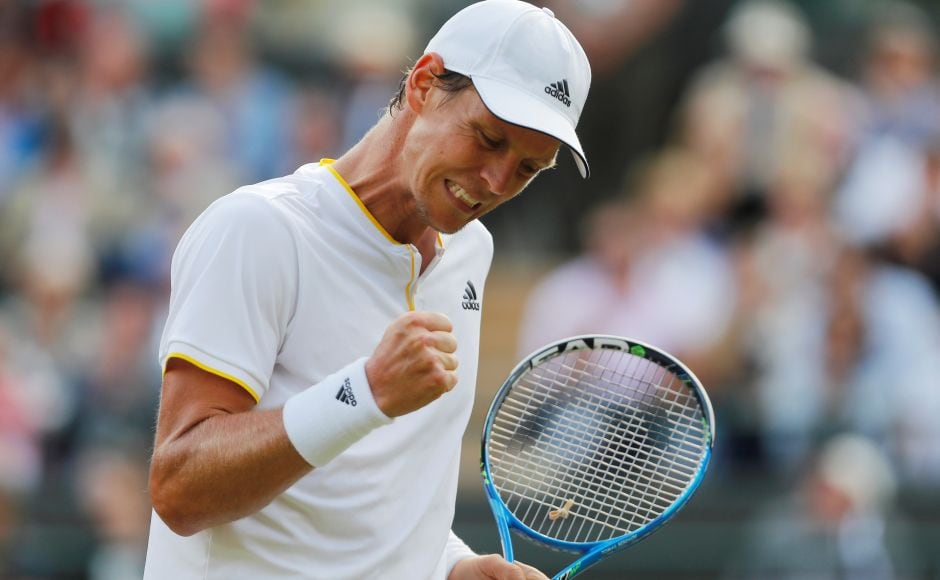 Tomas Berdych reached his second Wimbledon semi-final. He reached the final in 2010 but lost to Rafael Nadal. Reuters