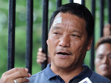 File image of GJM chief Bimal Gurung. Getty images