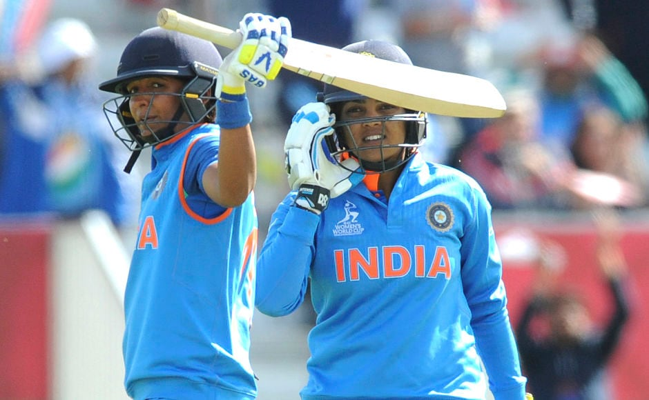 India's Harmanpreet Kaur, then went on a rampage as she reached 171* in 115. The last 71 runs coming in just 25 balls. AP