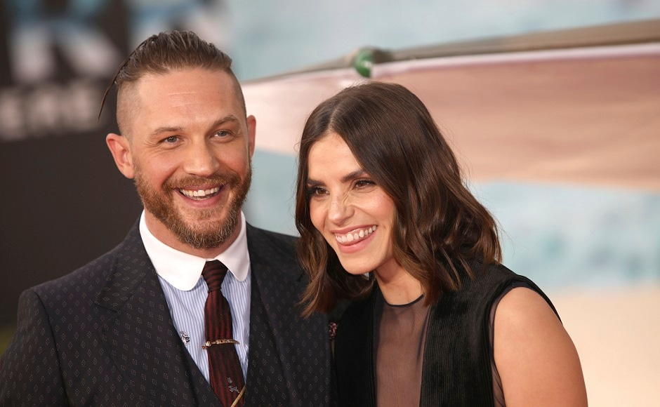 Actors Tom Hardy, left, and Charlotte Riley. Photo by AP