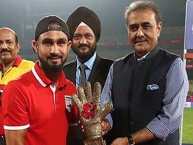File image of Mumbai City FC's Amrinder Singh winning the golden glove.