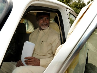 File image of Chandrababu Naidu. AFP
