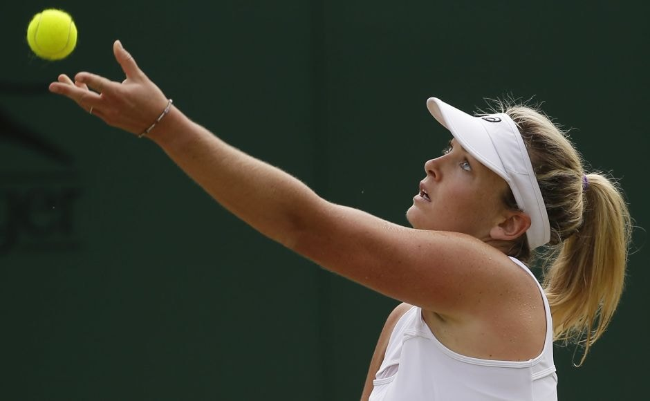 CoCo Vandeweghe advanced to the fourth round at Wimbledon for the third consecutive year with a 6-2, 6-4 victory over Alison Riske. AP