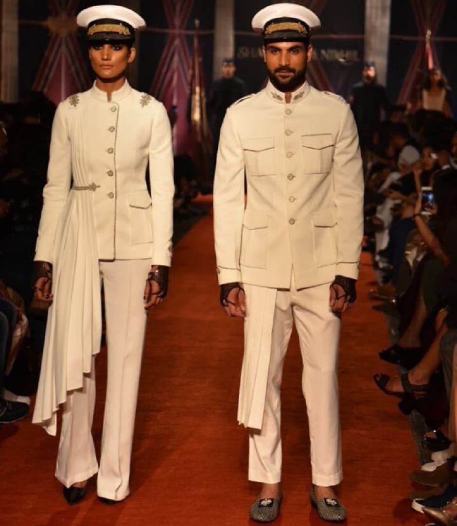 Designers Shantanu&Nikhil unveiled their autumn winter collection for the year. Image from Twitter/shantanunikhil