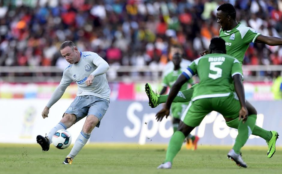 In Tanzania, Everton faced Kenyan side Gor Mahia in a match that saw Wayne Rooney score a goal for his boyhood club on debut. Everton won 2-1. Twitter/ @WayneRooney