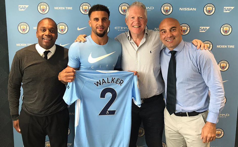 Kyle Walker left Tottenham Hotspur to join rivals Manchester City for £50 million. Image couretsy: Twitter/@kylewalker2