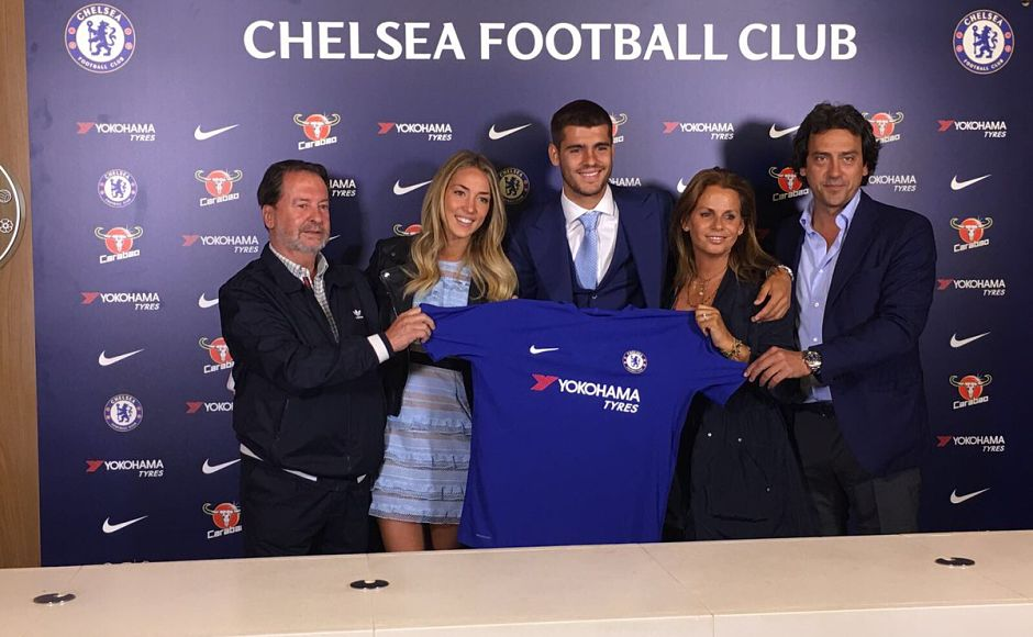 Alvaro Morata became Chelsea's most expensive signing when he signed for the Premier Leaue champions from Real Madrid for a reported £58 million. Image courtesy: Twitter/@AlvaroMorata