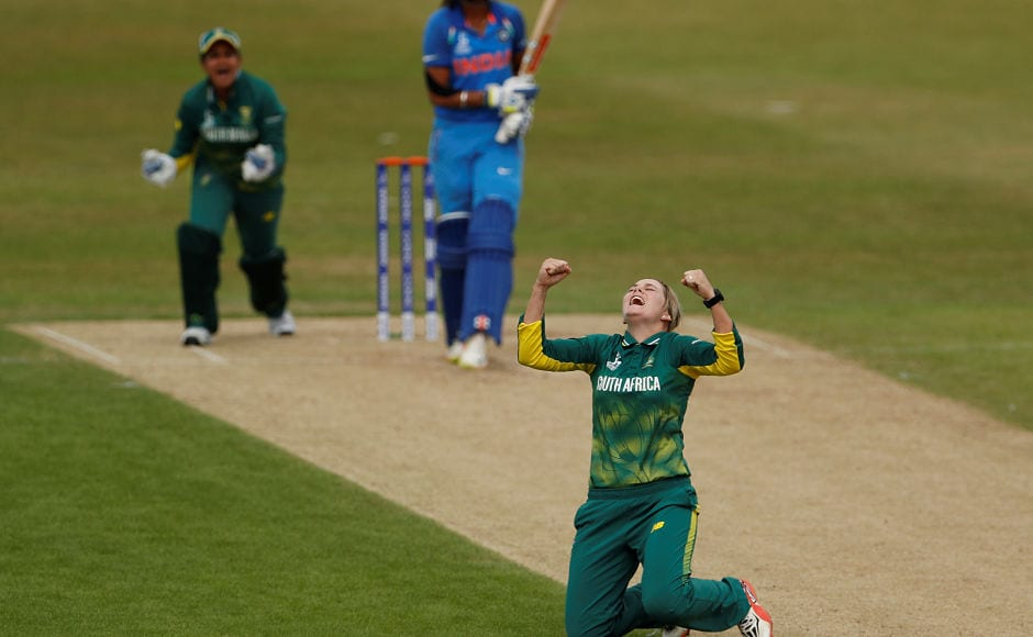 South Africa captain Dane van Niekerk broke the back of India's chase sending Mithali Raj and Harmanpreet Kaur back to the hut in the same over. Reuters