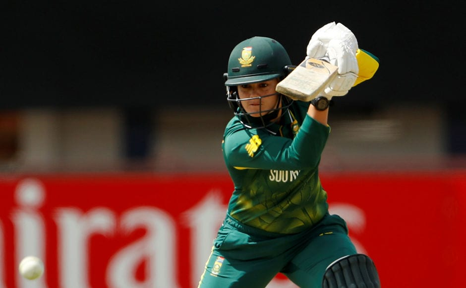 After Lizelle Lee fell, South Africa captain Dane van Niekerk took charge and scored 57 runs. Reuters