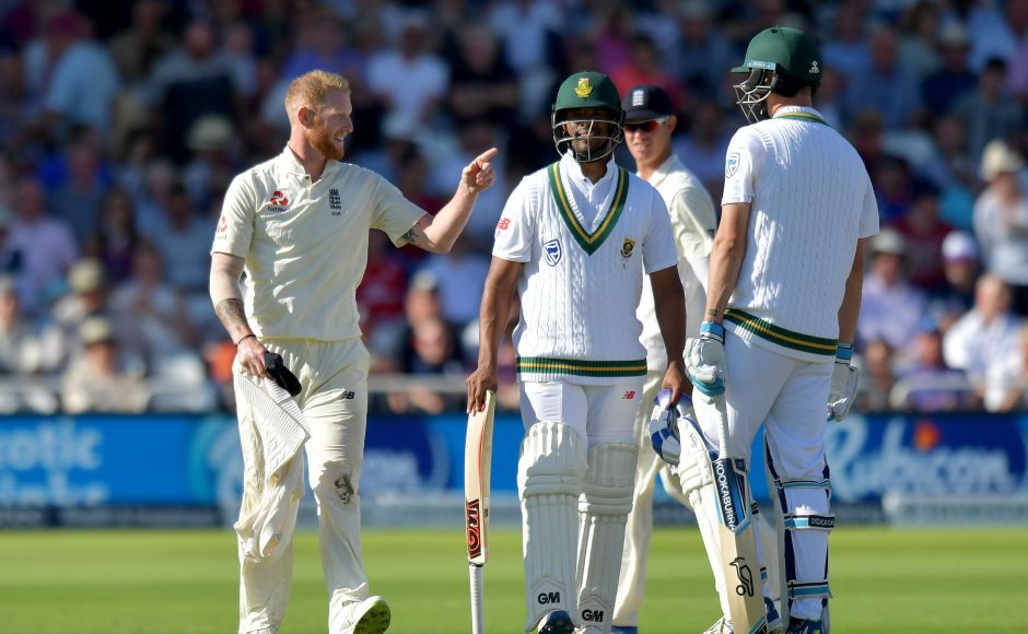 South Africa declare setting England a daunting target of 474 in the Trent Bridge Test. AFP
