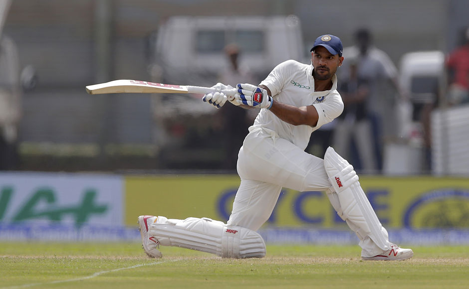 Shikhar Dhawan broke Polly Umrigar's 55-year old record of scoring the most number of runs in the post-lunch session. AP