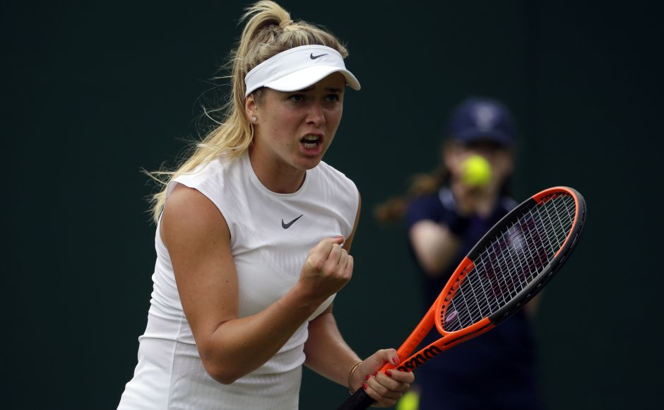 Fourth seed Elina Svitolina cruises into Wimbledon Round 3 after a 6-3, 6-0 win over the 37-year-old Italian Francesca Schiavone. AP