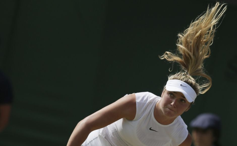 Ukraine's fourth-seeded Elina Svitolina reached the fourth round after defeating German Carina Witthoft. AP