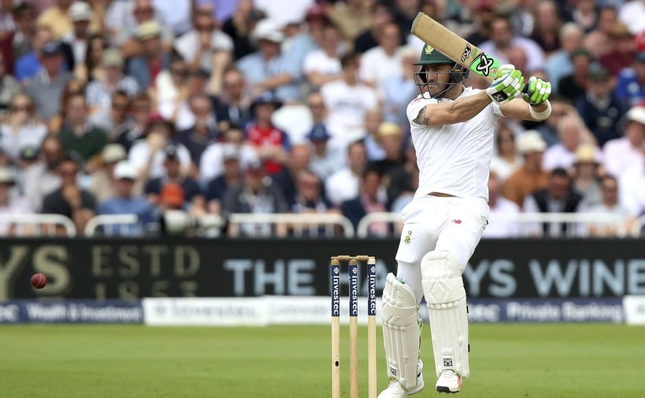 Captain Faf du Plessis continued rto take the attack to England as South Africa edged towards a very healthy lead. AP