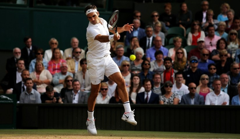 Roger Federer can become the only man with eight titles at Wimbledon if he defeats Marin Cilic on Sunday. Reuters