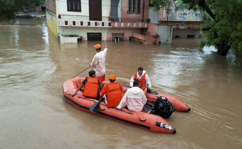 The army, Indian Air Force, National Disaster Response Force, police and fire brigade are engaged in rescuing people from flooded areas. PTI