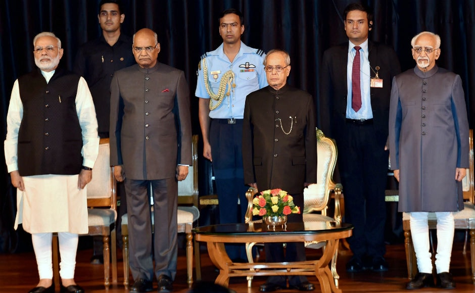 Prime Minister Narendra Modi on Monday released the fourth volume of selected speeches of President Pranab Mukherjee. President-elect Ram Nath Kovind and Vice-President Hamid Ansari also attended the ceremony. PTI
