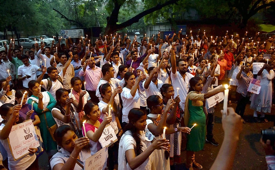 From Jammu to Ahmedabad, Indians took to streets to protest Monday's terror attack on Amarnath Yatra pilgrims in south Kashmir's Anantnag that killed seven and injured 19. PTI