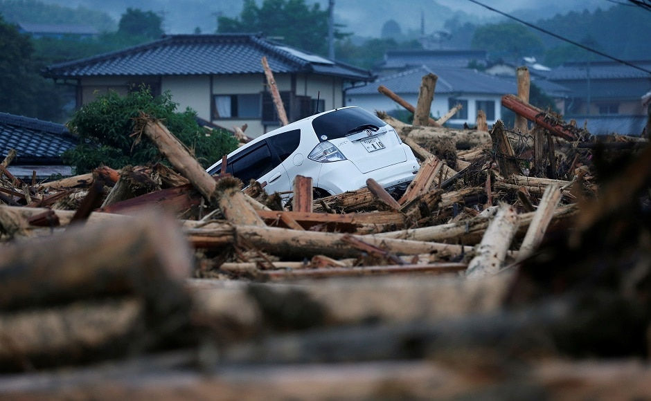 Fukuoka and Oita prefectures, both largely rural areas, were worst-hit by the rains, which was caused by low pressure area on the Pacific Ocean that fed warm, moist air into Japan's seasonal rainy front. Reuters