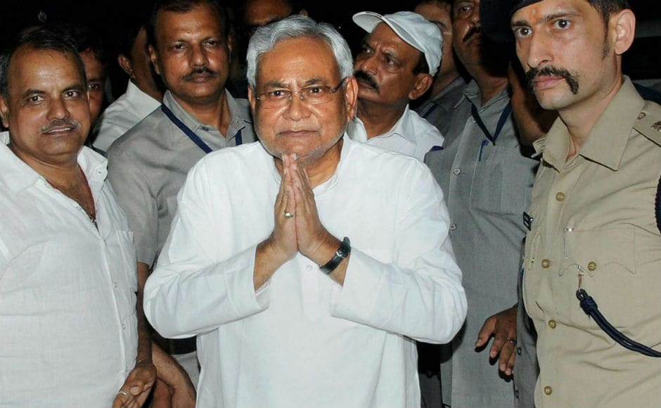 "Nitish Kumar met Governor Keshari Nath Tripathi on Wednesday evening and tendered his resignation. He said that, ""In the circumstances that prevail in Bihar, it became difficult to run the Grand Alliance government"". PTI"