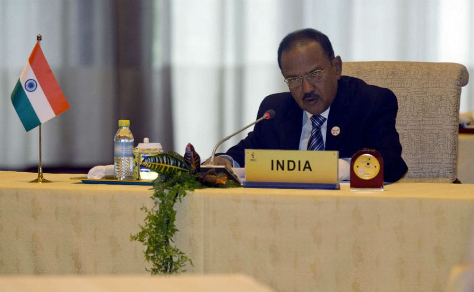 Indian NSA Ajit Doval called on BRICS countries to show leadership on issues of regional and global importance, including countering terrorism, although there was no reference to the ongoing border dispute in his speech. Later, Doval and his Chinese counterpart Yang Jiechi held a separate meeting to discuss bilateral issues. AP