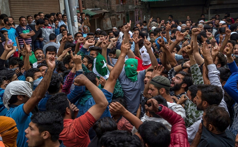 The locals said that the mourners attempted to offer 'Namaz-e-Janazah' (prayer before burial) at the Jamia Masjid, but were prevented by police which lead to clashes. About half-a-dozen persons were injured after security forces fired teargas canisters and shotgun pellets to break a procession of mourners. AP